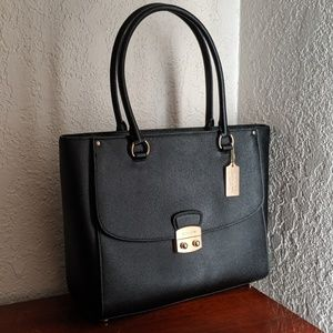 Coach Black Leather Avary Tote